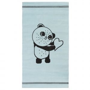 4living Panda Puuvillamatto Vaaleansininen 80x150 Cm