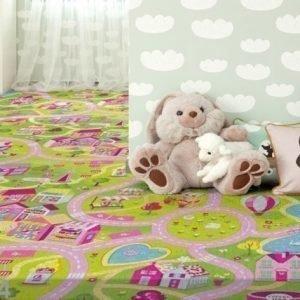 Af Lastenhuoneen Matto Hauska Kaupunki 160x240 Cm