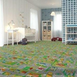 Af Lastenhuoneen Matto Liikenne 133x133 Cm