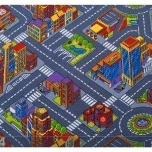Af Lastenhuoneen Matto Suuri Kaupunki 100x200 Cm