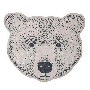 Bloomingville Bear Matto Ruskea / Harmaa 75x85 Cm