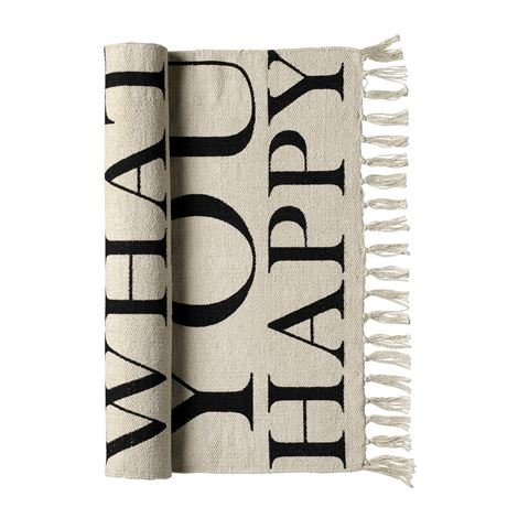 Bloomingville Do More Of What Makes You Happy Matto 60x120 cm