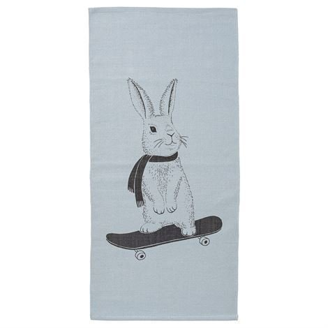 Bloomingville Rabbit On Skateboard Matto 60x120 cm