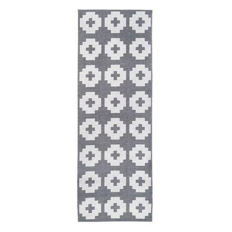 Brita Sweden Flower Matto Stone Harmaa 70x250 cm