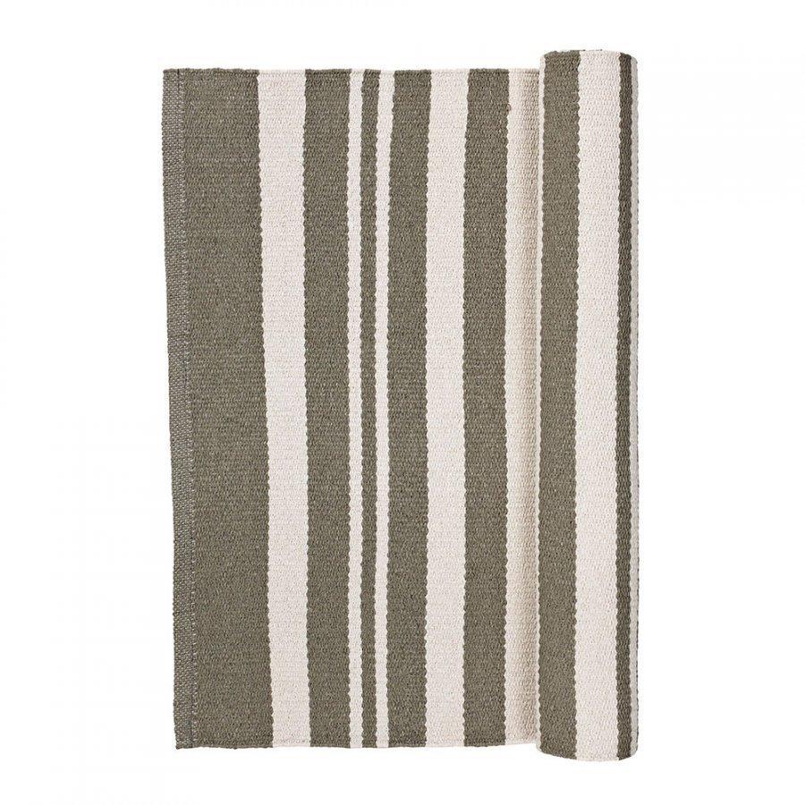 Broste Copenhagen Stripe Matto 70x140 Cm Taupe/Norsunluu