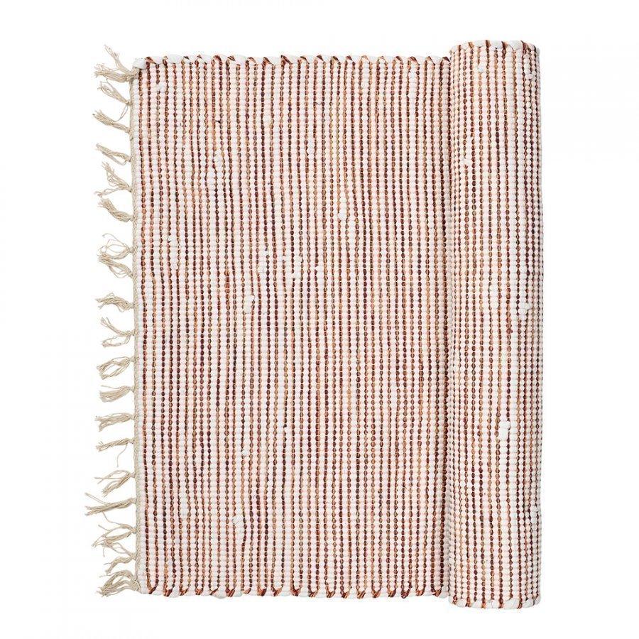 Broste Copenhagen Thin Stripe Matto 70x140 Cm Paprika