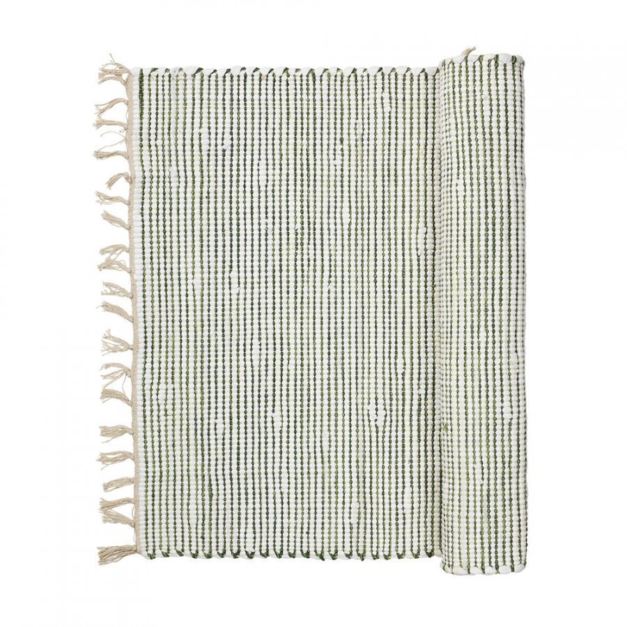 Broste Copenhagen Thin Stripe Matto 70x140 Cm Pesto