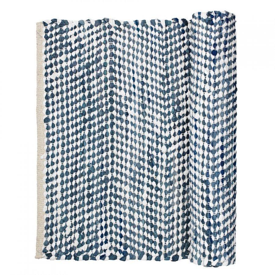 Broste Copenhagen Zigzag Matto 60x90 Cm Insignia Blue