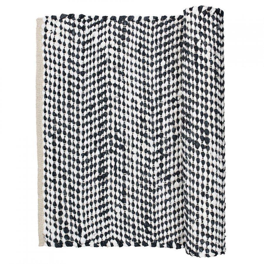 Broste Copenhagen Zigzag Matto 70x140 Cm Flint Stone Blue
