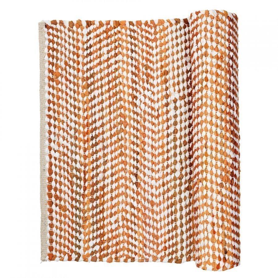Broste Copenhagen Zigzag Matto 70x140 Cm Paprika