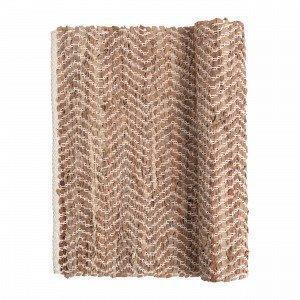 Broste Copenhagen Zigzag Matto Beige 80x250 Cm