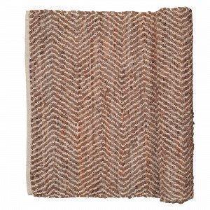 Broste Copenhagen Zigzag Matto Ruoste 80x250 Cm