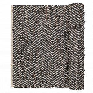 Broste Copenhagen Zigzag Matto Tummanruskea 70x140 Cm