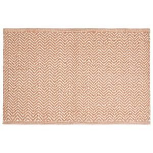 Chhatwal & Jonsson Herring Bone Matto Orange / Khaki 80x50 Cm