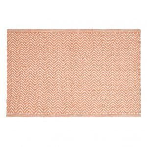 Chhatwal & Jonsson Herring Bone Matto Oranssi / Khaki 50x80 Cm