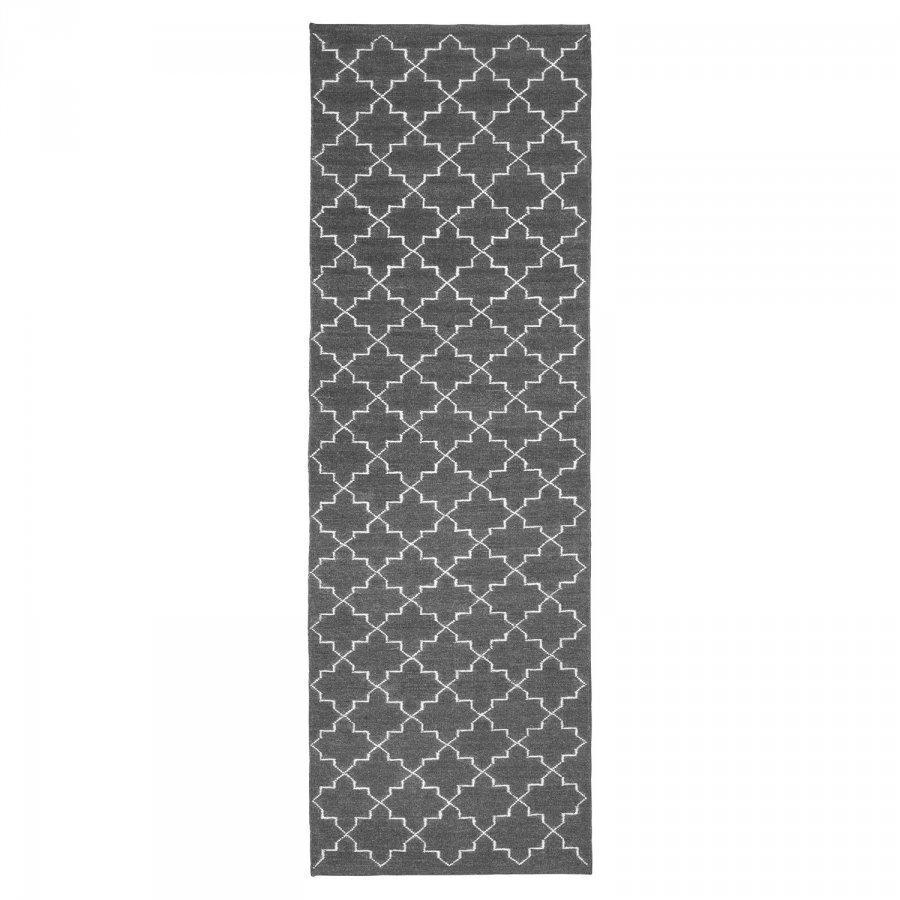 Chhatwal & Jonsson New Geometric Matto 80x250 Cm Harmaa/Valkoinen