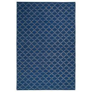 Chhatwal & Jonsson New Geometric Matto Indigo / Offwhite 180x272 Cm