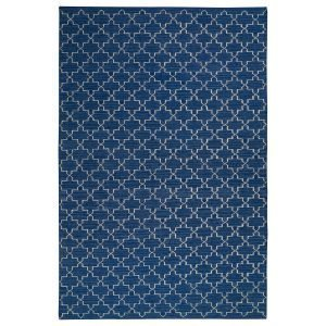 Chhatwal & Jonsson New Geometric Matto Indigo / Offwhite 80x250 Cm