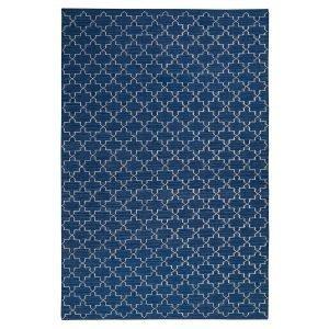 Chhatwal & Jonsson New Geometric Matto Indigo / Valkoinen 180x272 Cm