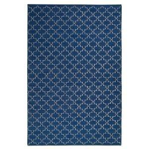Chhatwal & Jonsson New Geometric Matto Indigo / Valkoinen 234x323 Cm