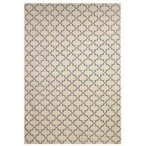 Chhatwal & Jonsson New Geometric Matto Offwhite / Indigo 180x272 Cm