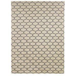 Chhatwal & Jonsson New Geometric Matto Offwhite / Navy 180x272 Cm