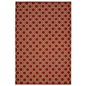 Chhatwal & Jonsson Varanasi Dhurry Matto Red / Off White 180x272 Cm