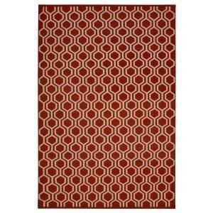 Chhatwal & Jonsson Varanasi Dhurry Matto Red / Off White 230x320 Cm
