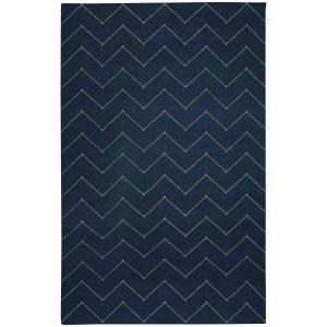 Chhatwal & Jonsson Zigzag Matto Blue Melange / Off White 180x270 Cm
