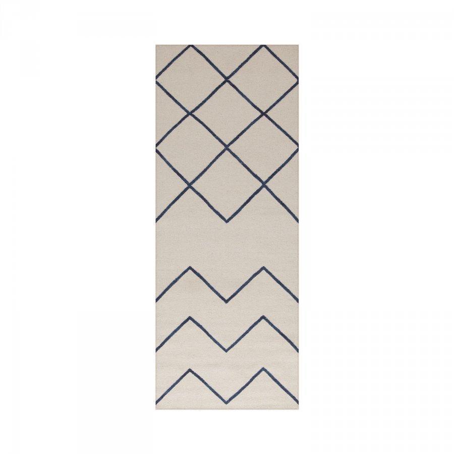 Decotique Geometrie 01 Matto 80x200 Cm Offwhite/Sininen