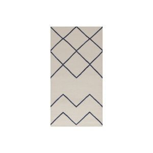 Decotique Geometrie 01 Matto Offwhite / Sininen 80x200 Cm