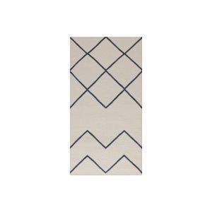 Decotique Geometrie 01 Matto Offwhite / Sininen 80x240 Cm