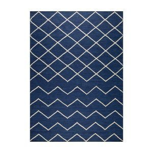 Decotique Geometrie 01 Matto Sininen / Offwhite 80x240 Cm