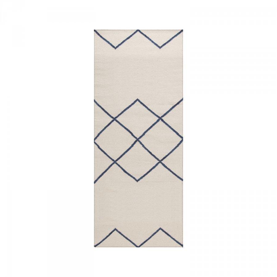 Decotique Geometrie 03 Matto 80x200 Cm Offwhite/Sininen
