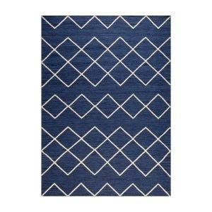 Decotique Geometrie 03 Matto Sininen / Offwhite 200x300 Cm