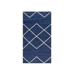 Decotique Geometrie 03 Matto Sininen / Offwhite 80x150 Cm