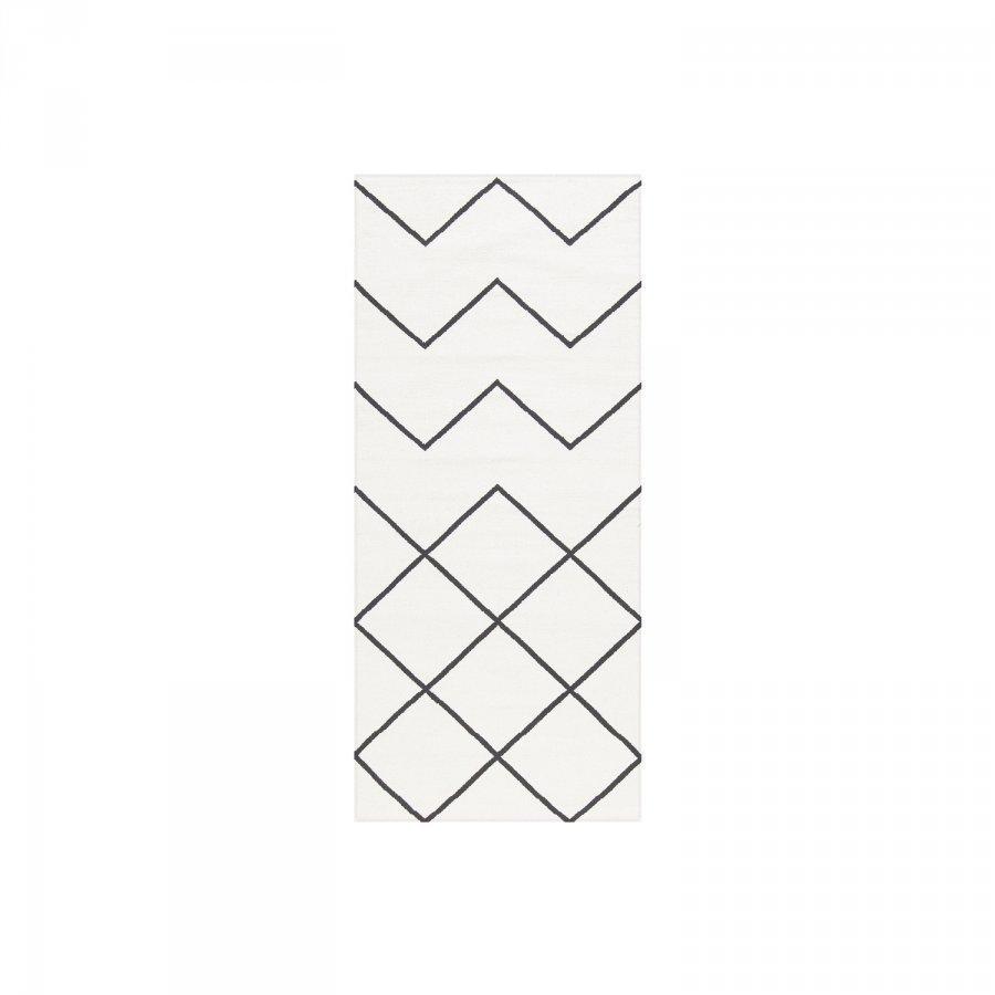 Decotique Geometrie Coton 01 Matto 80x150 Cm Valkoinen/Musta