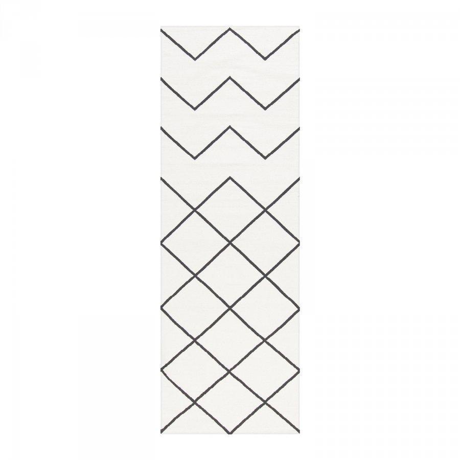 Decotique Geometrie Coton 01 Matto 80x240 Cm Valkoinen/Musta