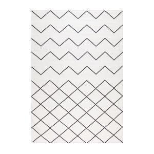 Decotique Geometrie Coton 01 Matto Valkoinen / Musta 200x300 Cm