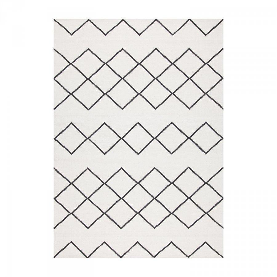 Decotique Geometrie Coton 03 Matto 200x300 Cm Valkoinen/Musta