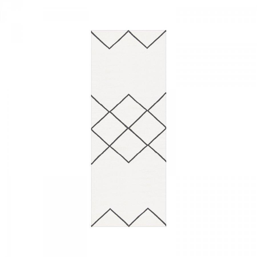 Decotique Geometrie Coton 03 Matto 80x200 Cm Valkoinen/Musta