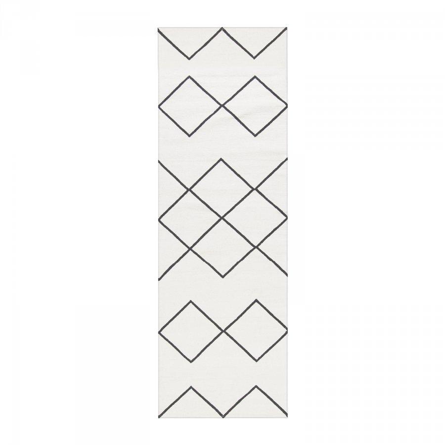 Decotique Geometrie Coton 03 Matto 80x240 Cm Valkoinen/Musta