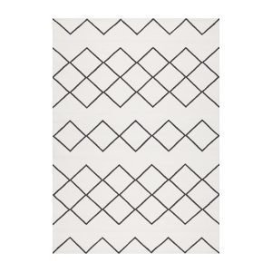 Decotique Geometrie Coton 03 Matto Valkoinen / Musta 170x240 Cm