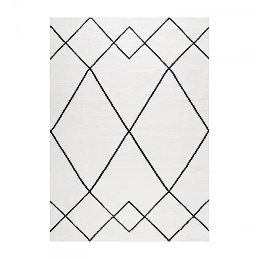 Decotique Le Milieu Matto 200x300 Cm Valkoinen/Musta
