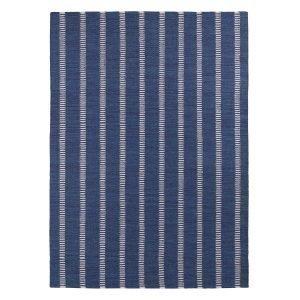 Decotique Tapis Bleu Rayé Matto Sininen / Beige 170x240 Cm