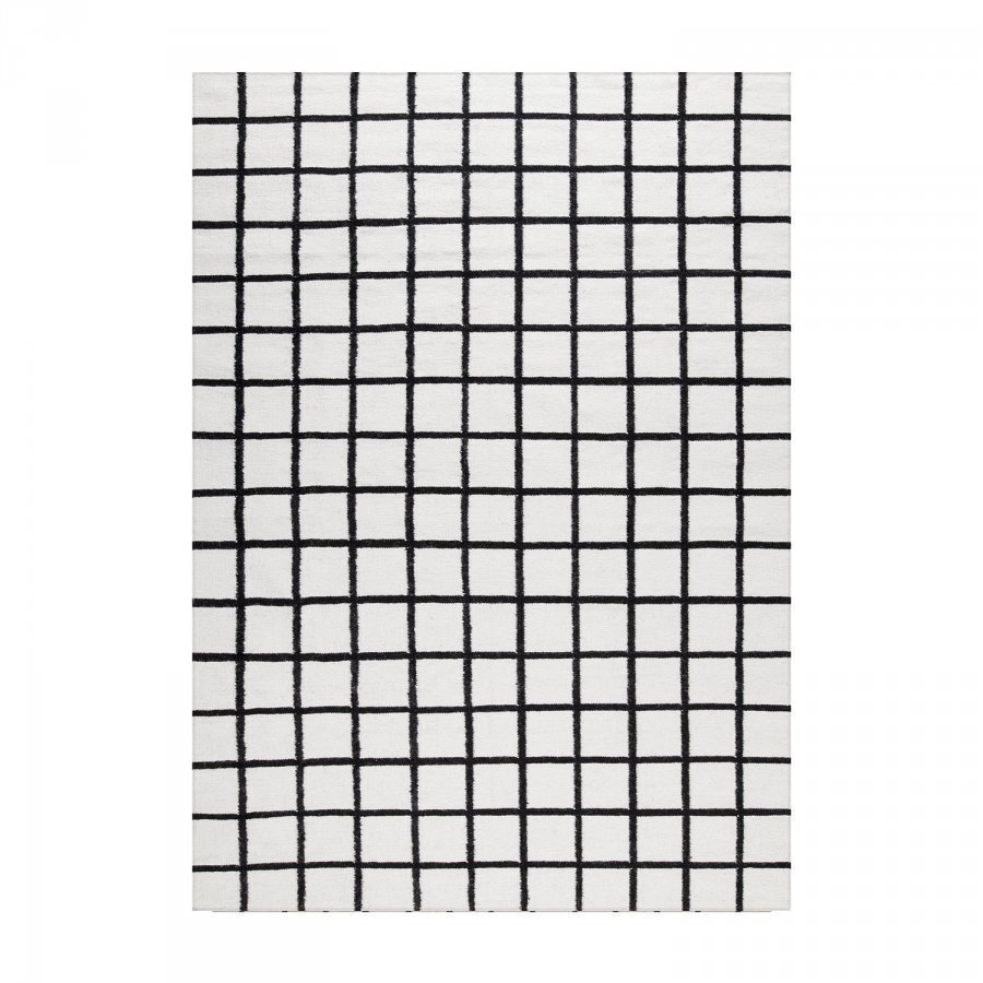 Decotique Tapis Damier Matto 170x240 Cm Valkoinen/Musta