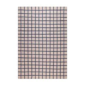Decotique Tapis Damier Matto Beige / Sininen 170x240 Cm