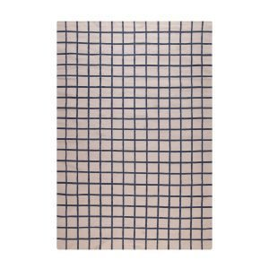 Decotique Tapis Damier Matto Beige / Sininen 200x300 Cm