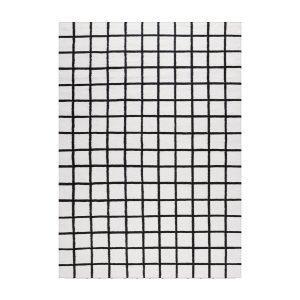 Decotique Tapis Damier Matto Valkoinen / Musta 200x300 Cm