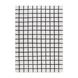 Decotique Tapis Damier Matto Valkoinen / Musta 300x400 Cm
